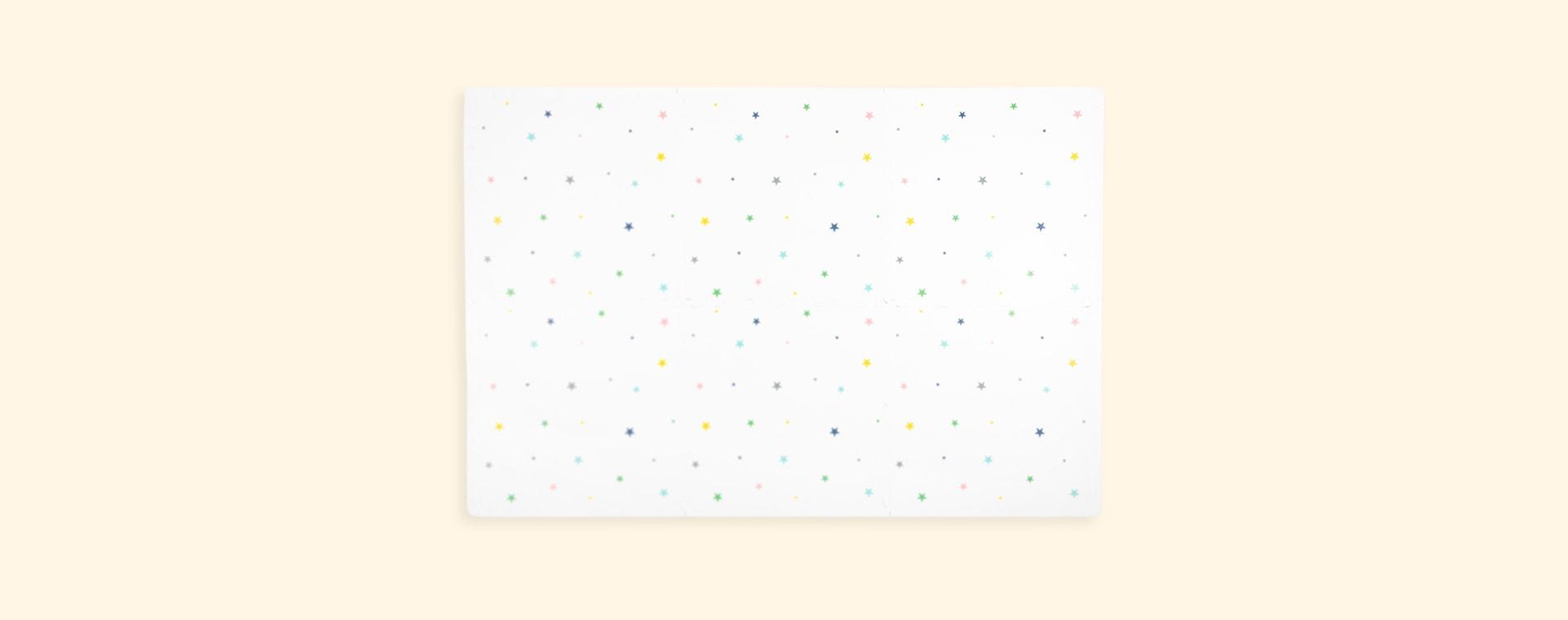 Multicoloured Stars gus & beau Puzzle Foam Playmat