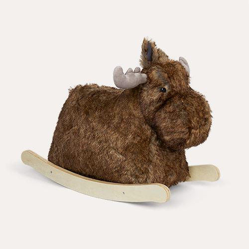 Brown Kid's Concept Rocking Moose