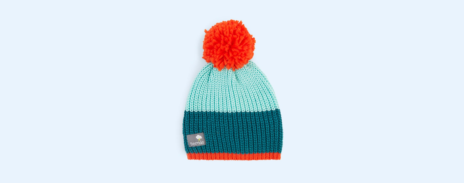 Forest Tang Bernie and The Beanpole Colour Block Bobble Hat