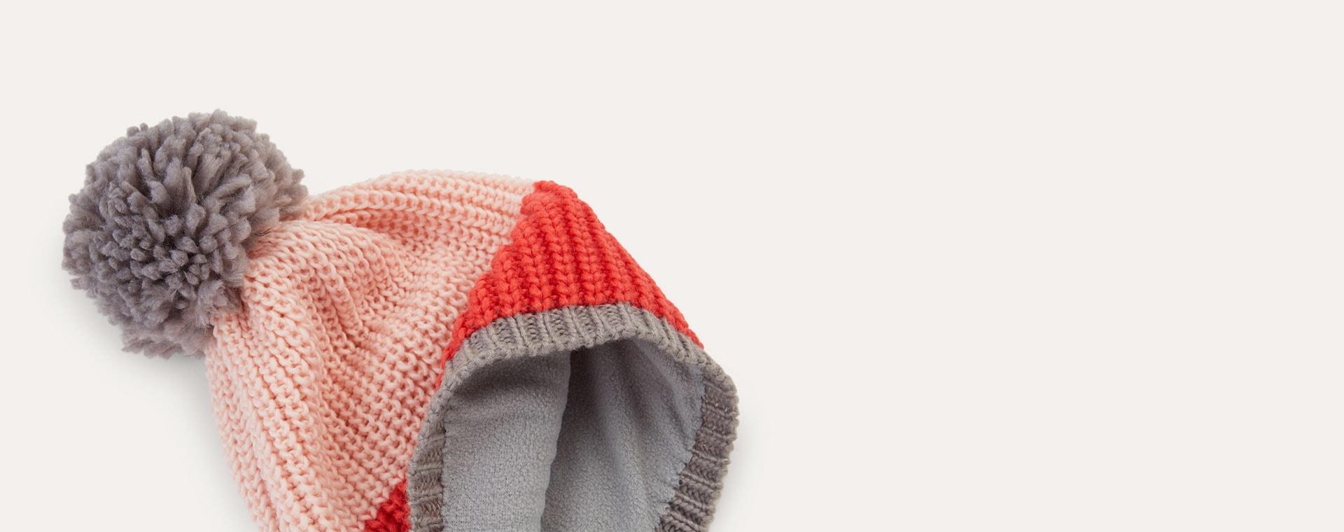 Pink Dusk Bernie and The Beanpole Colour Block Bobble Hat