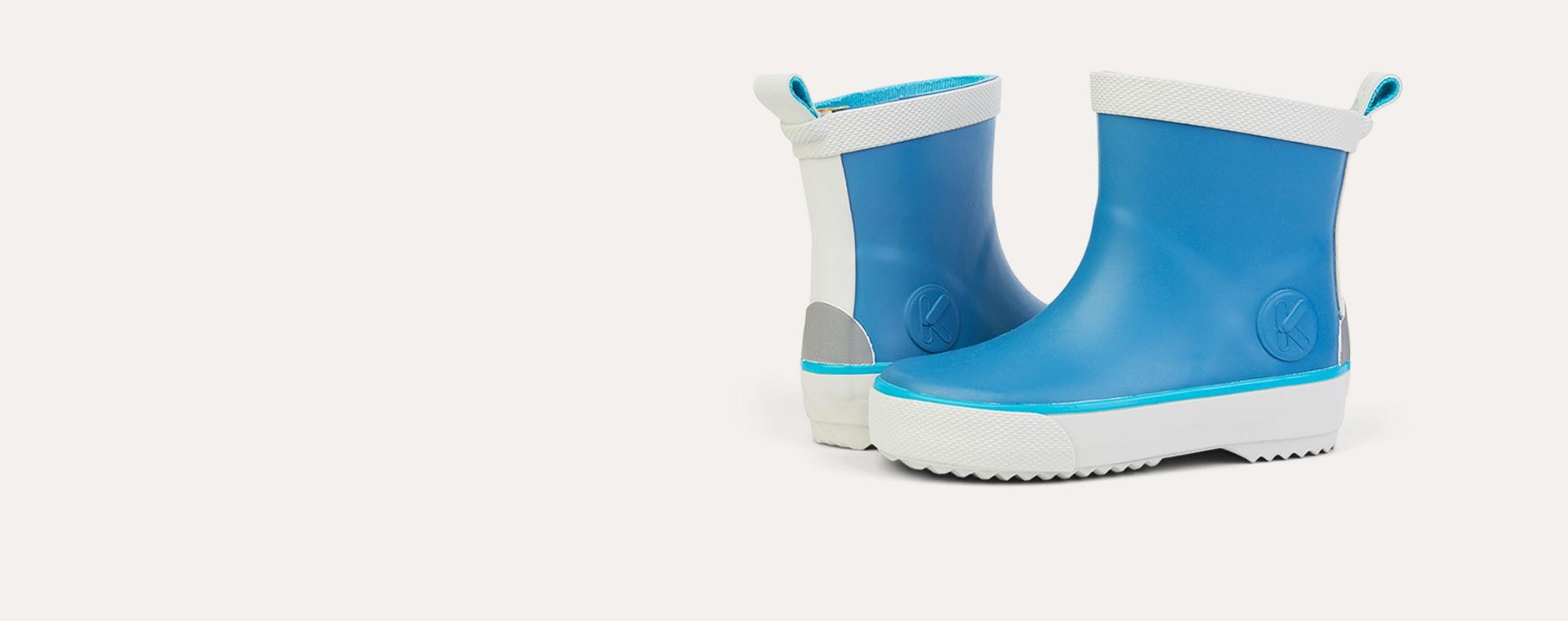 Denim KIDLY Label Short Rain Boot