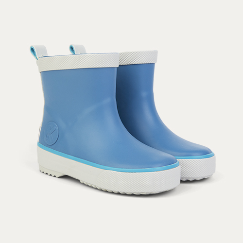 Denim KIDLY Label Short Rain Boot