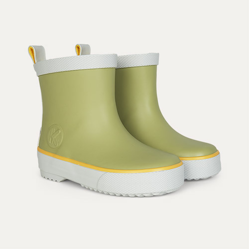Moss KIDLY Label Ankle Rain Boot