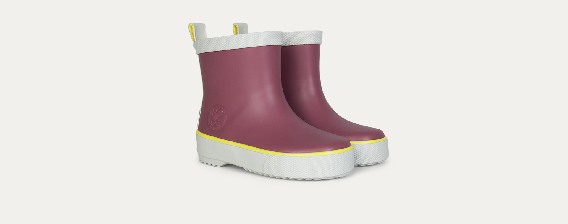 Aubergine KIDLY Label Ankle Rain Boot