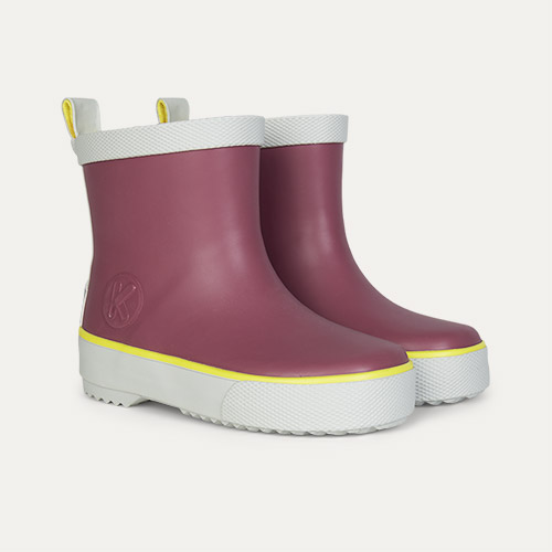 Aubergine KIDLY Label Short Rain Boot