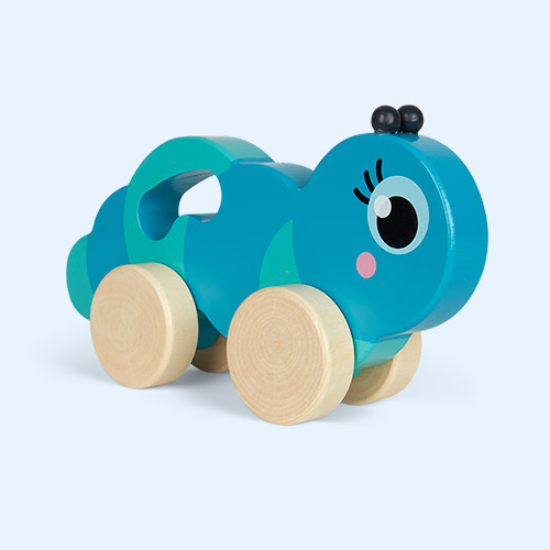 Blue Sunnylife Caterpillar Push And Pull Toy