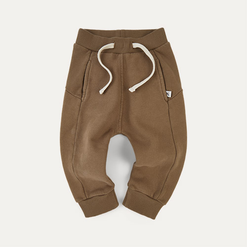 Camel KIDLY Label Panelled Jogger