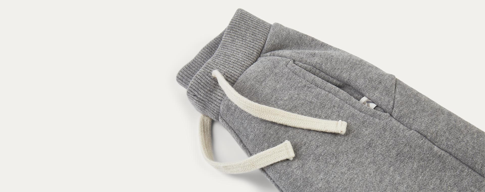 Mid Grey Marl KIDLY Label Panelled Jogger