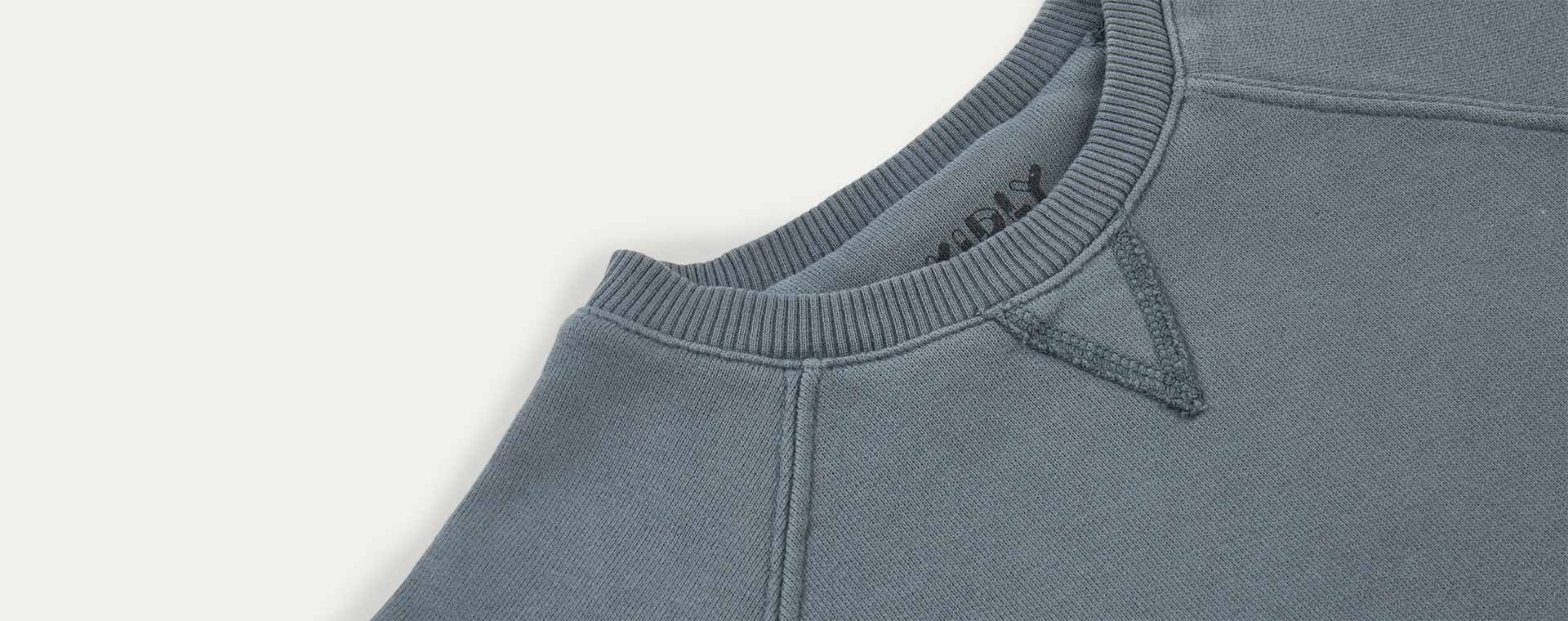 Teal KIDLY Label Pocket Sweatshirt