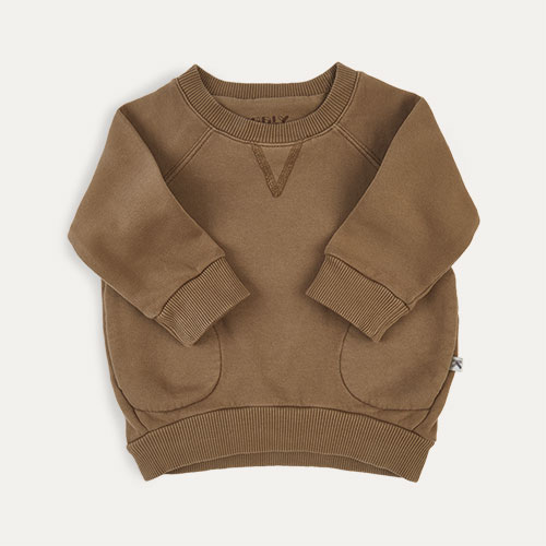 Camel KIDLY Label Pocket Sweatshirt