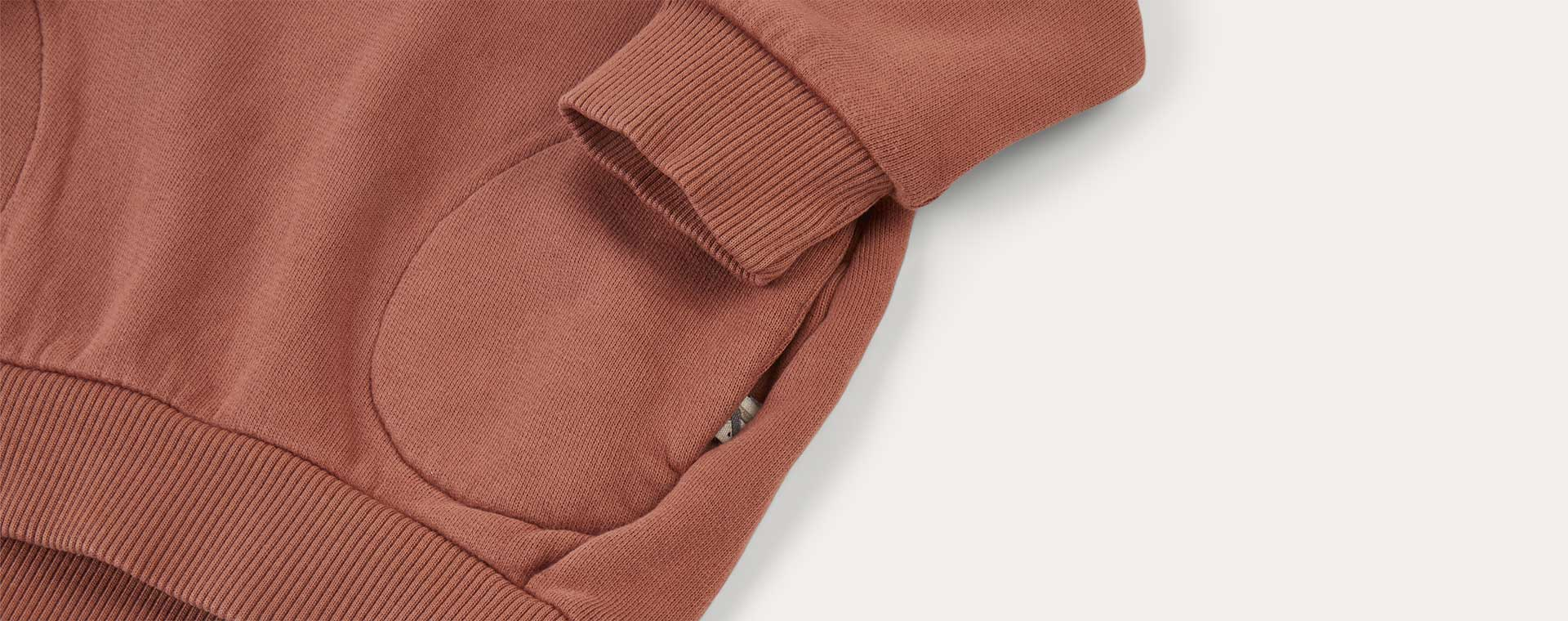 Copper KIDLY Label Pocket Sweatshirt