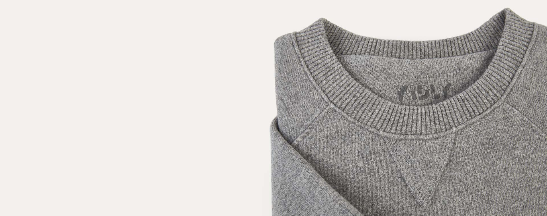 Mid Grey Marl KIDLY Label Pocket Sweatshirt