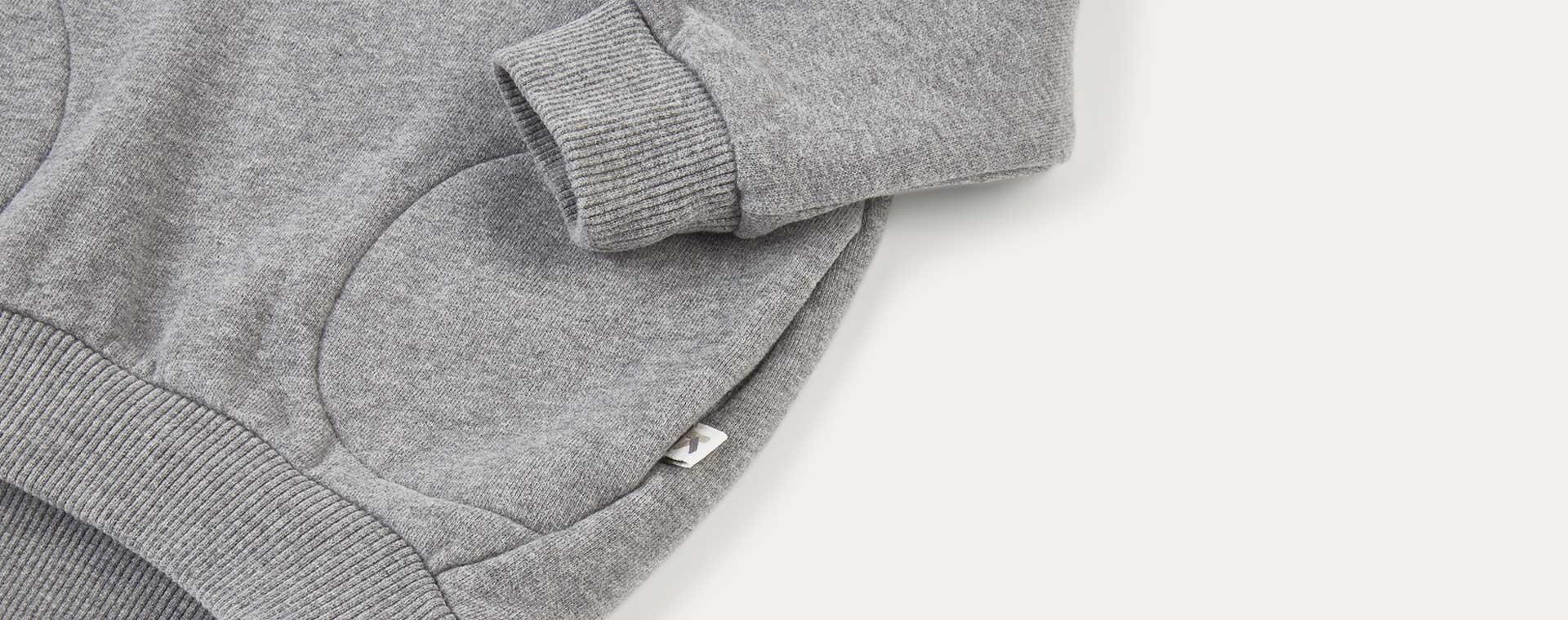 Mid Grey Marl KIDLY Label Pocket Sweatshirt