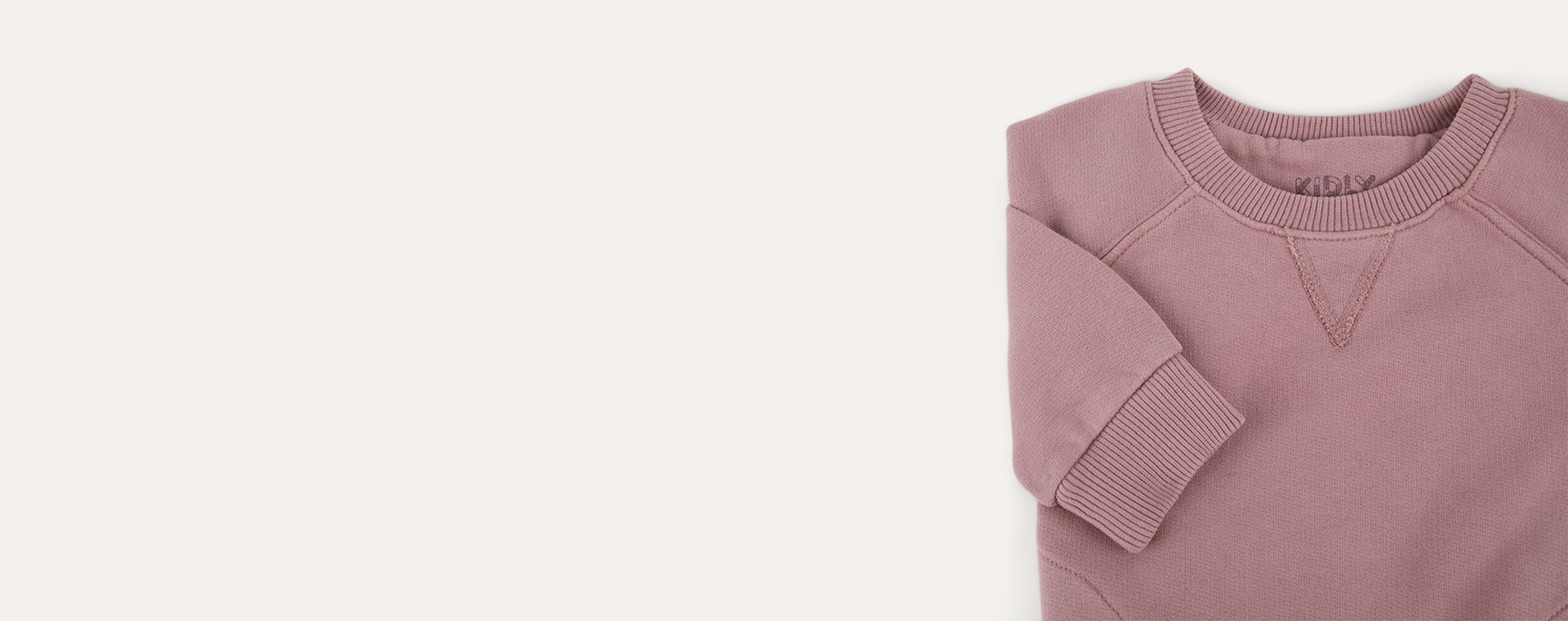 Wood Rose KIDLY Label Pocket Sweatshirt