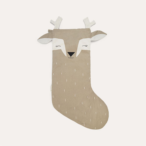 Sleepy Deer Fabelab Christmas Animal Stocking Sleepy Deer