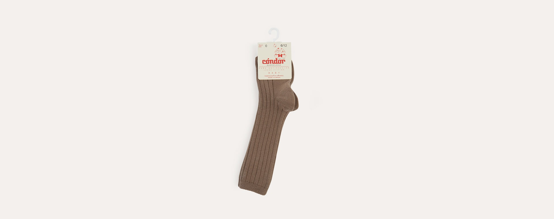 Mink Condor Ribbed Knee High Socks