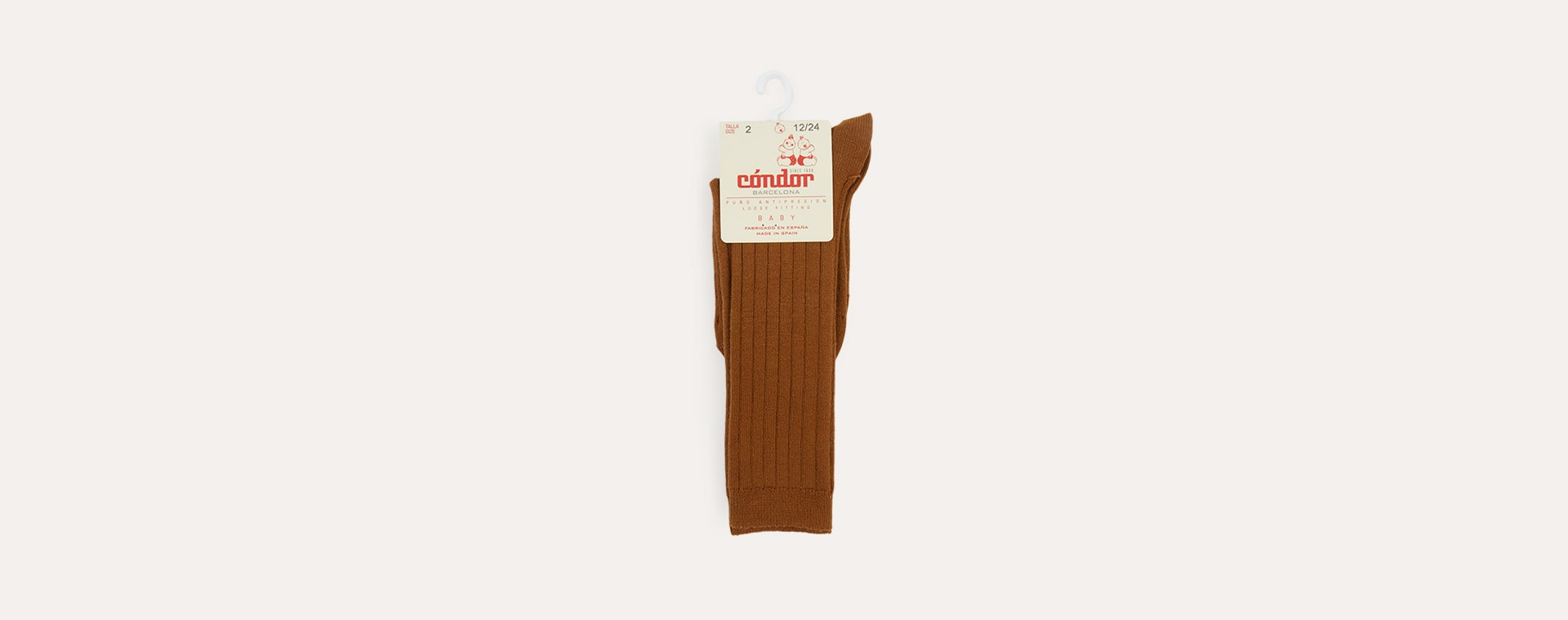 Toffee Condor Ribbed Knee High Socks