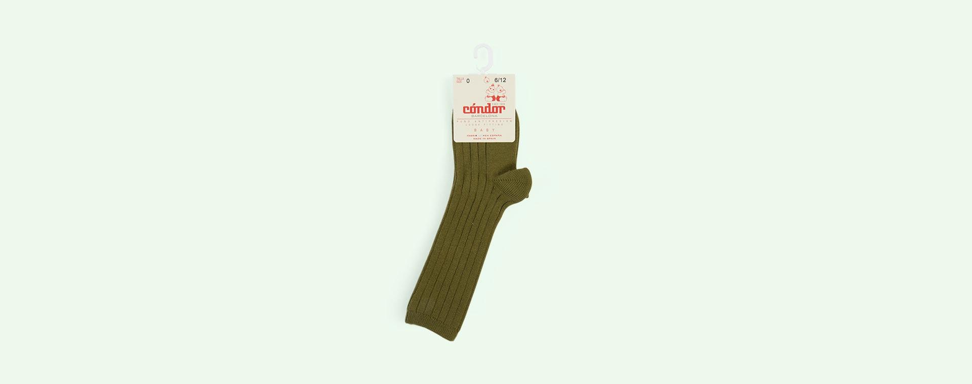 Seaweed Condor Ribbed Knee High Socks