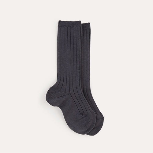 Coal Condor Ribbed Knee High Socks