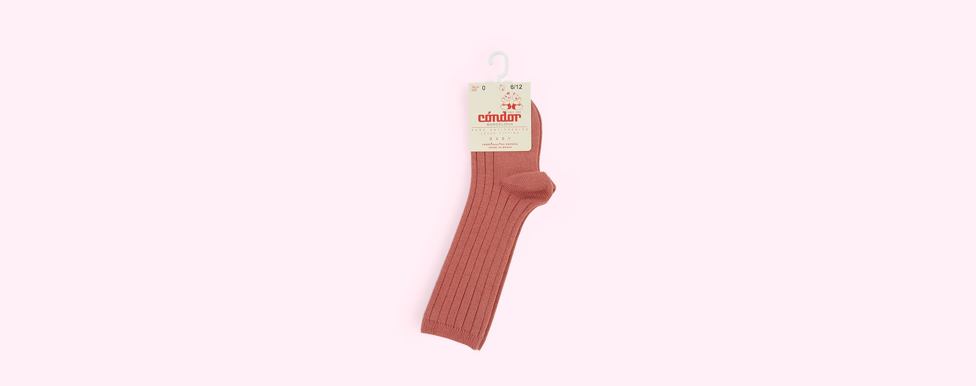 Terracotta Condor Ribbed Knee High Socks