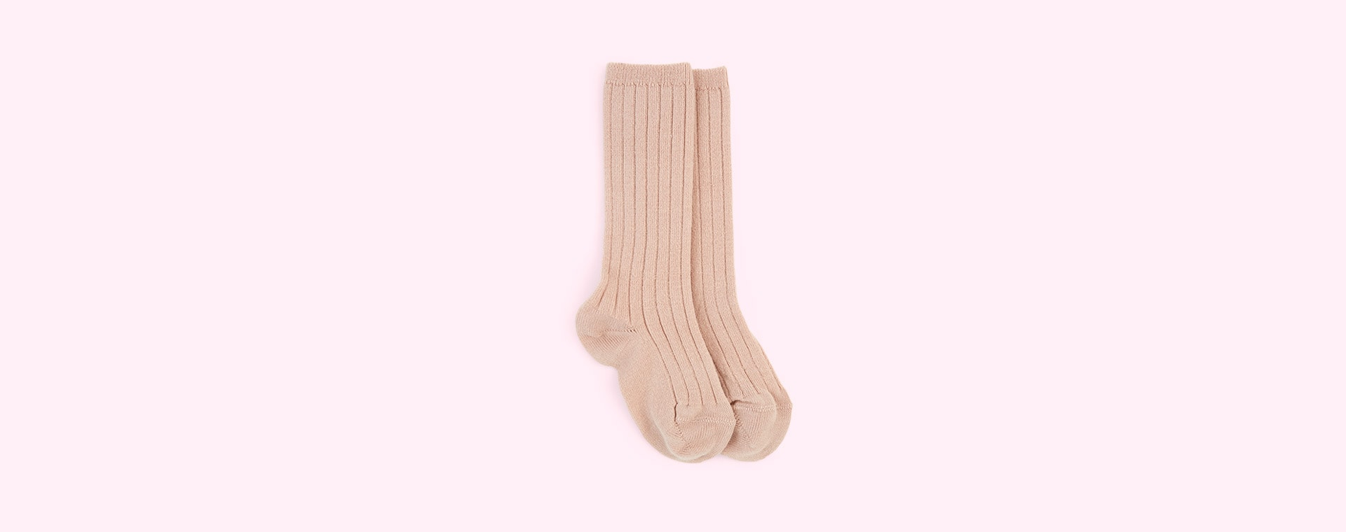 Old Rose Condor Ribbed Knee High Socks