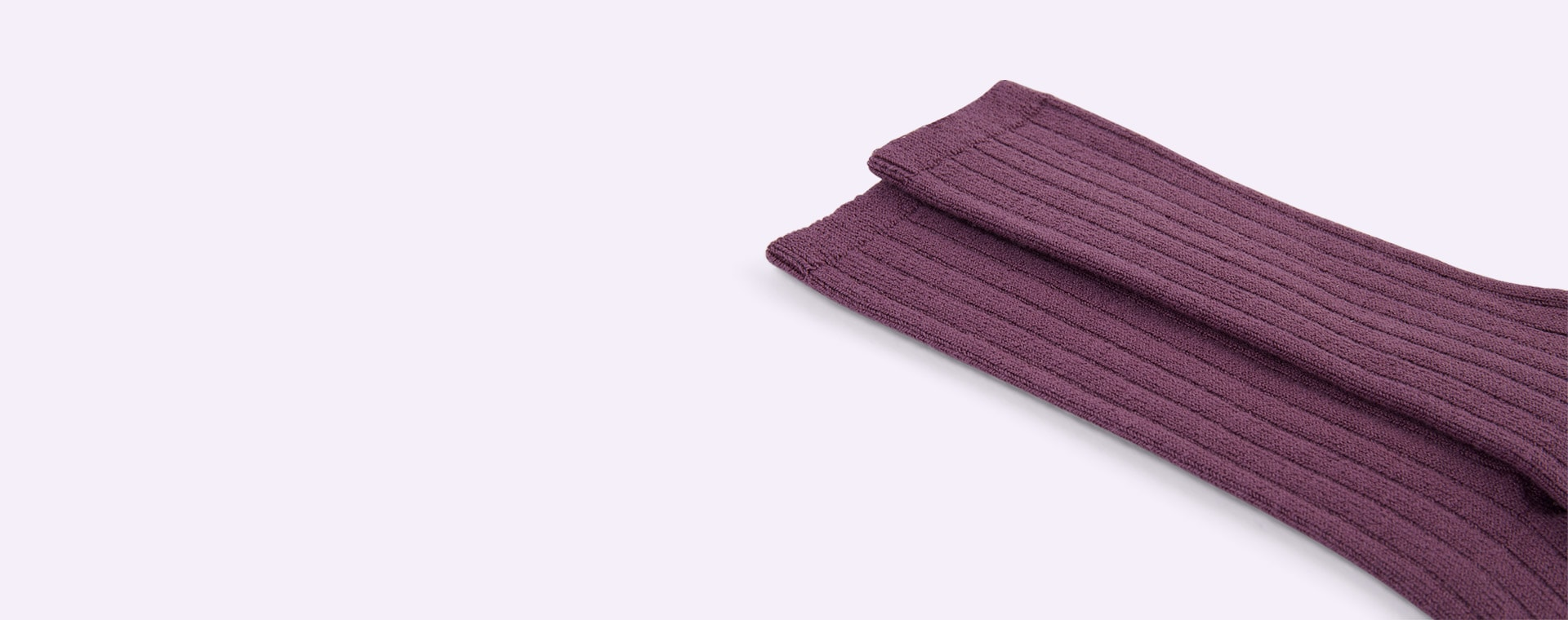 Aubergine Condor Ribbed Knee High Socks