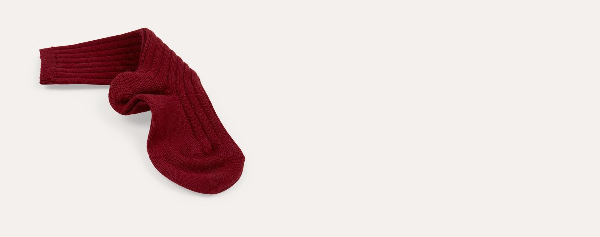 Garnet Condor Ribbed Knee High Socks