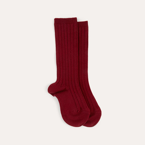 Garnet Condor Ribbed Knee High Socks