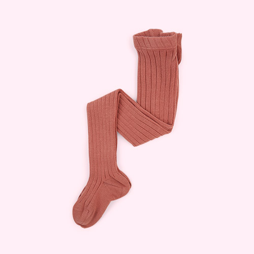 Terracotta Condor Ribbed Tights