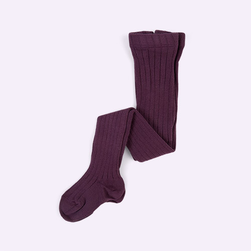 Aubergine Condor Ribbed Tights