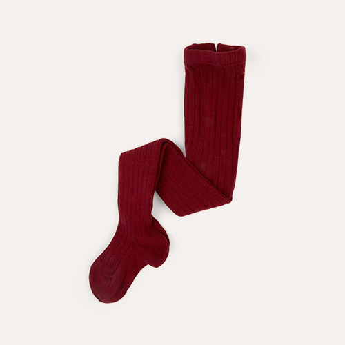 Garnet Condor Ribbed Tights