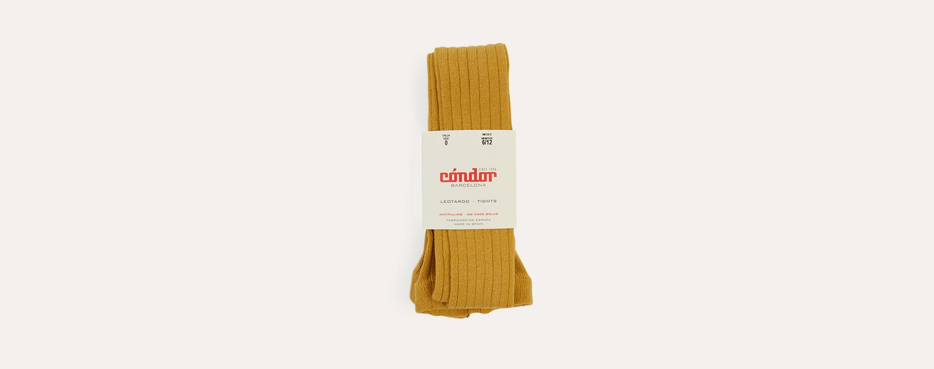 Mustard Condor Ribbed Tights