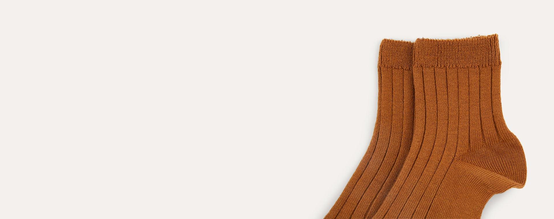 Toffee Condor Short Ribbed Socks