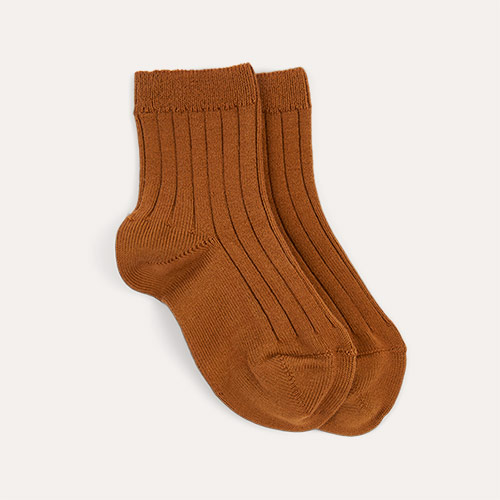 Toffee Condor Short Ribbed Socks