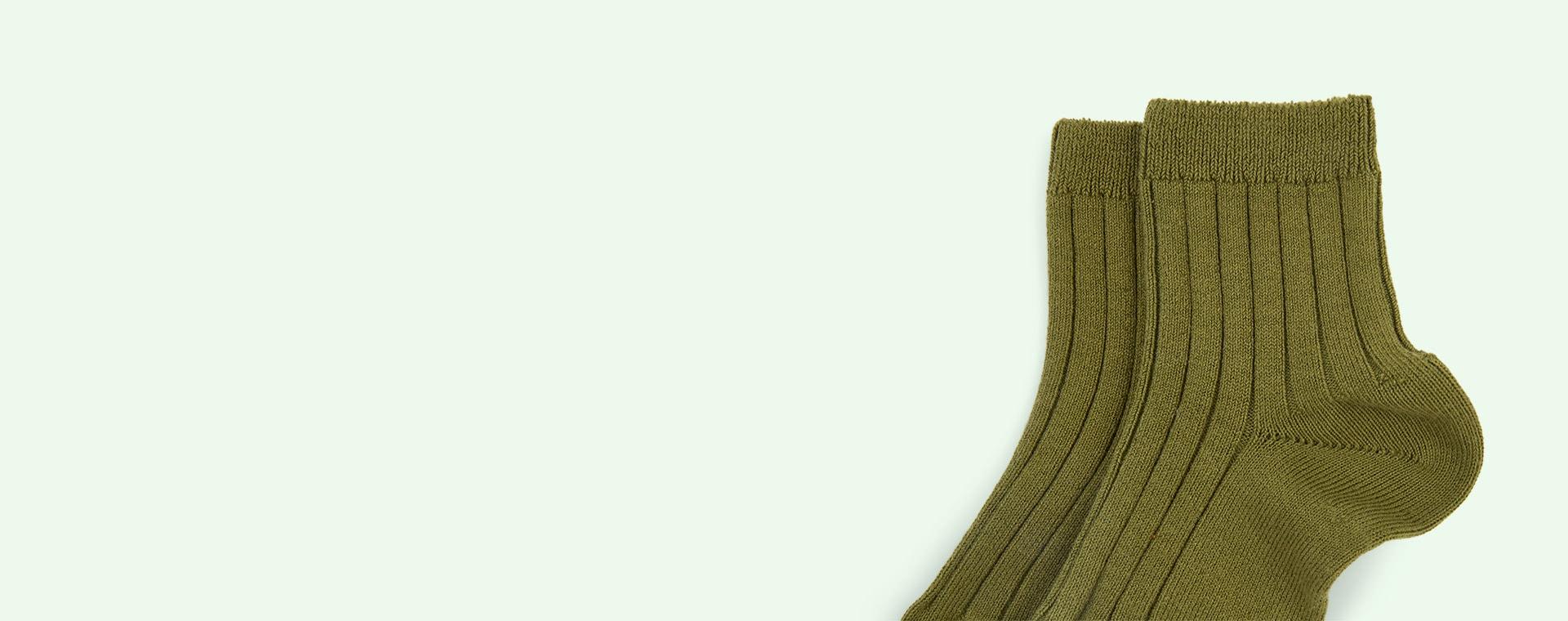 Seaweed Condor Short Ribbed Socks