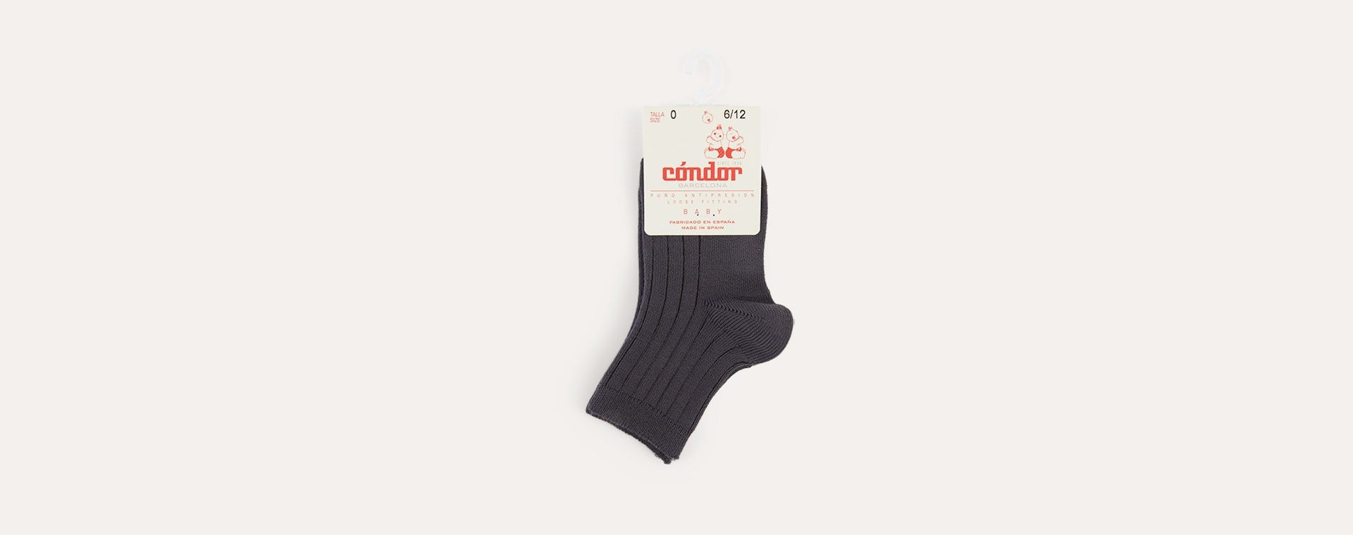 Coal Condor Short Ribbed Socks