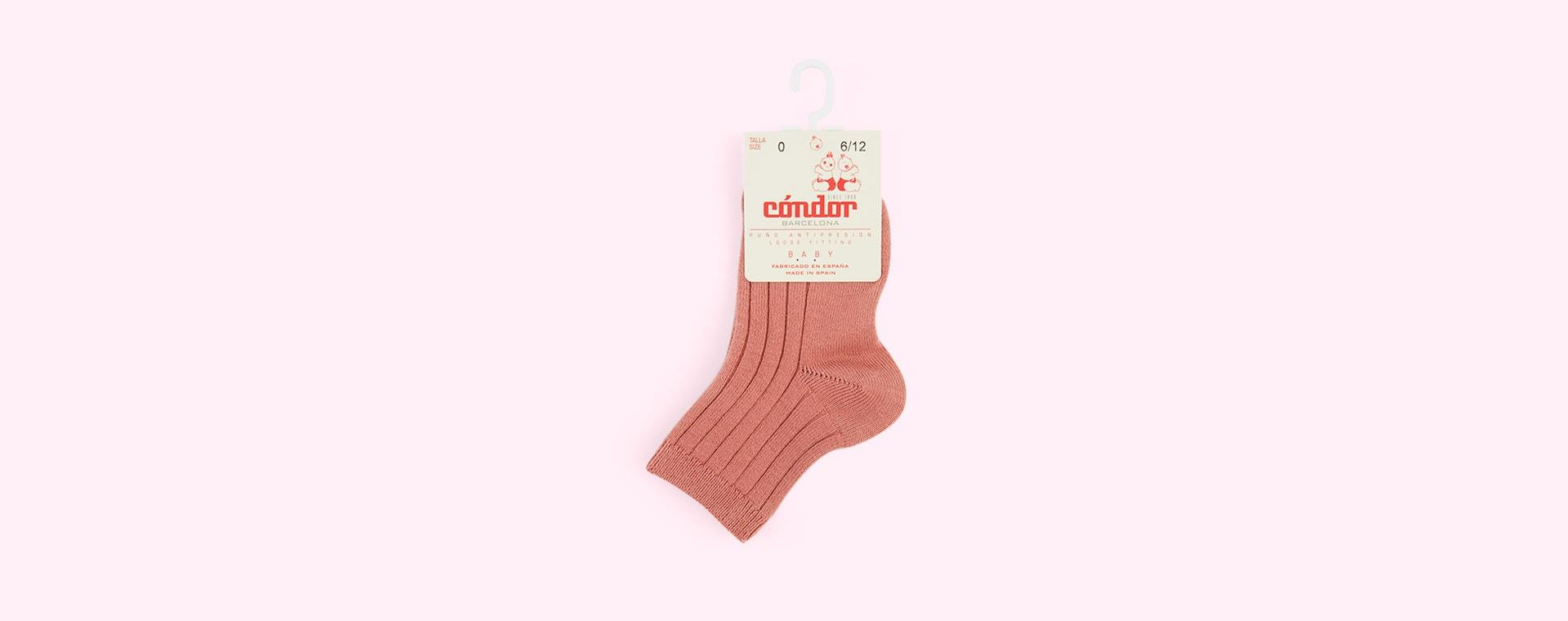 Terracotta Condor Short Ribbed Socks