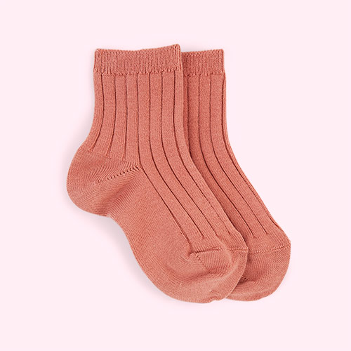 Terracotta Condor Short Ribbed Socks