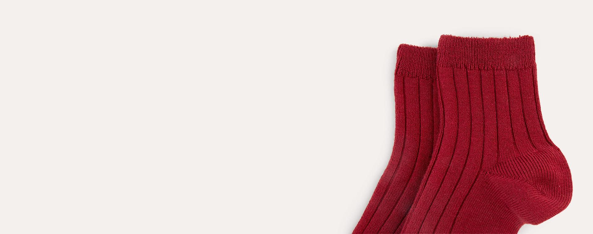 Garnet Condor Short Ribbed Socks