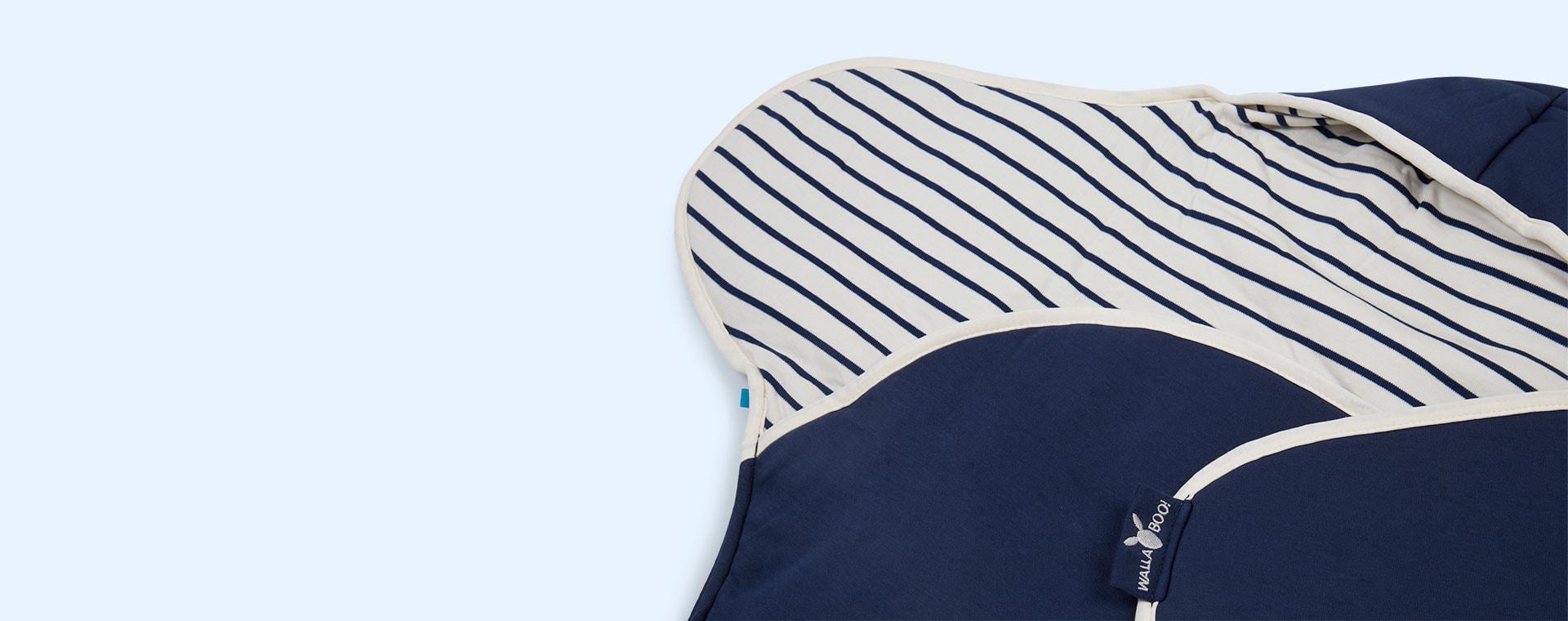 Blue Stripe Wallaboo Baby Blanket Coco Reversible