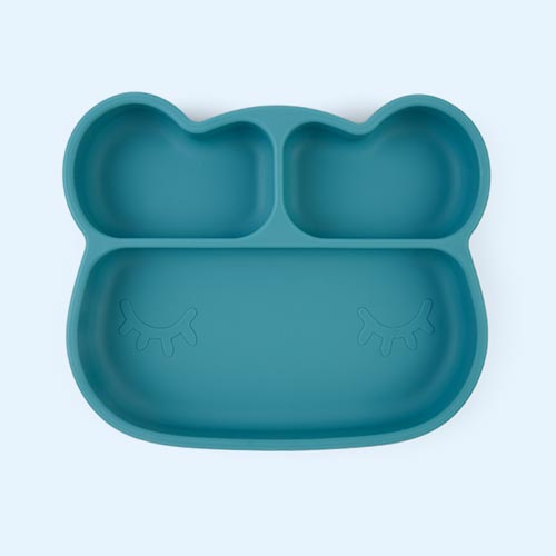 Blue We Might Be Tiny Bear Stickie Plate
