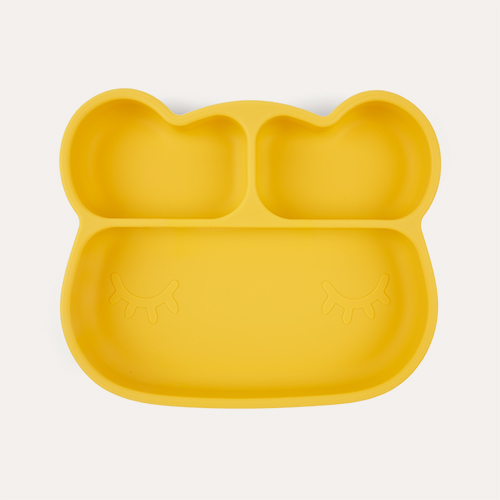 Yellow We Might Be Tiny Bear Stickie Plate