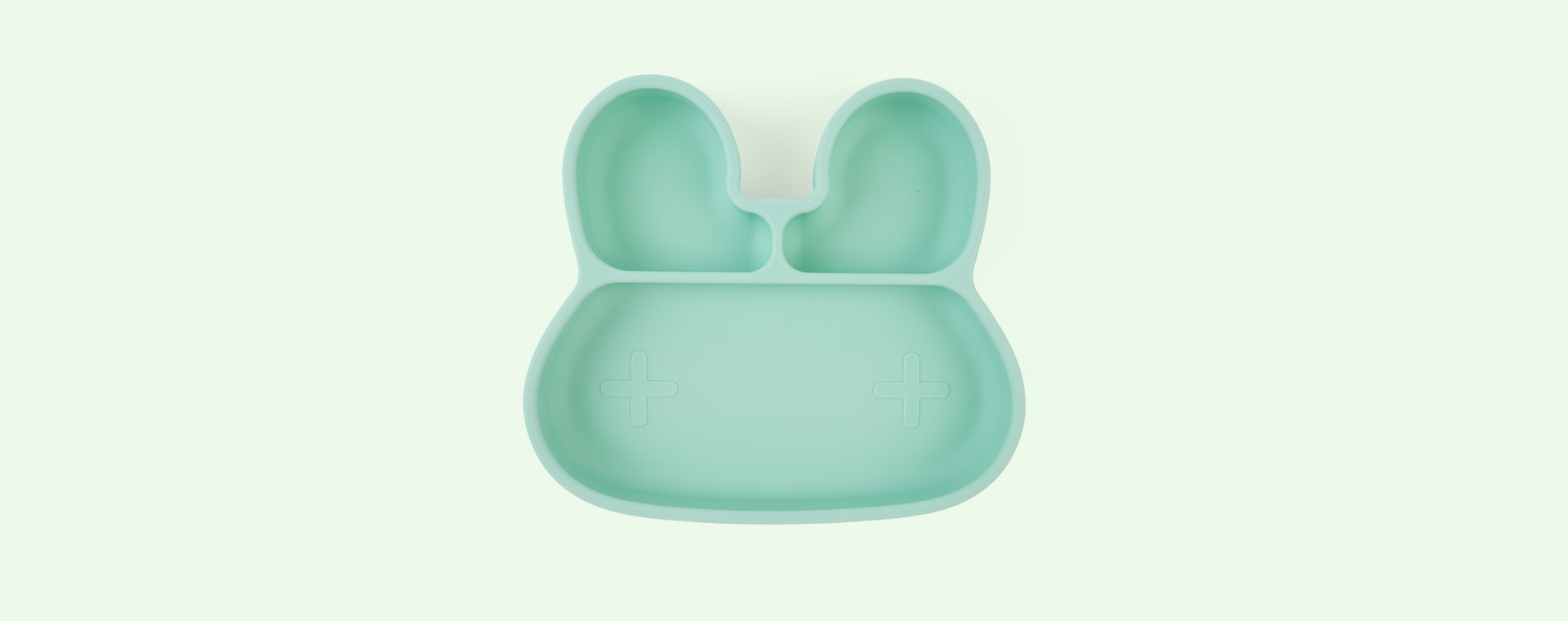 Mint We Might Be Tiny Bunny Stickie Plate