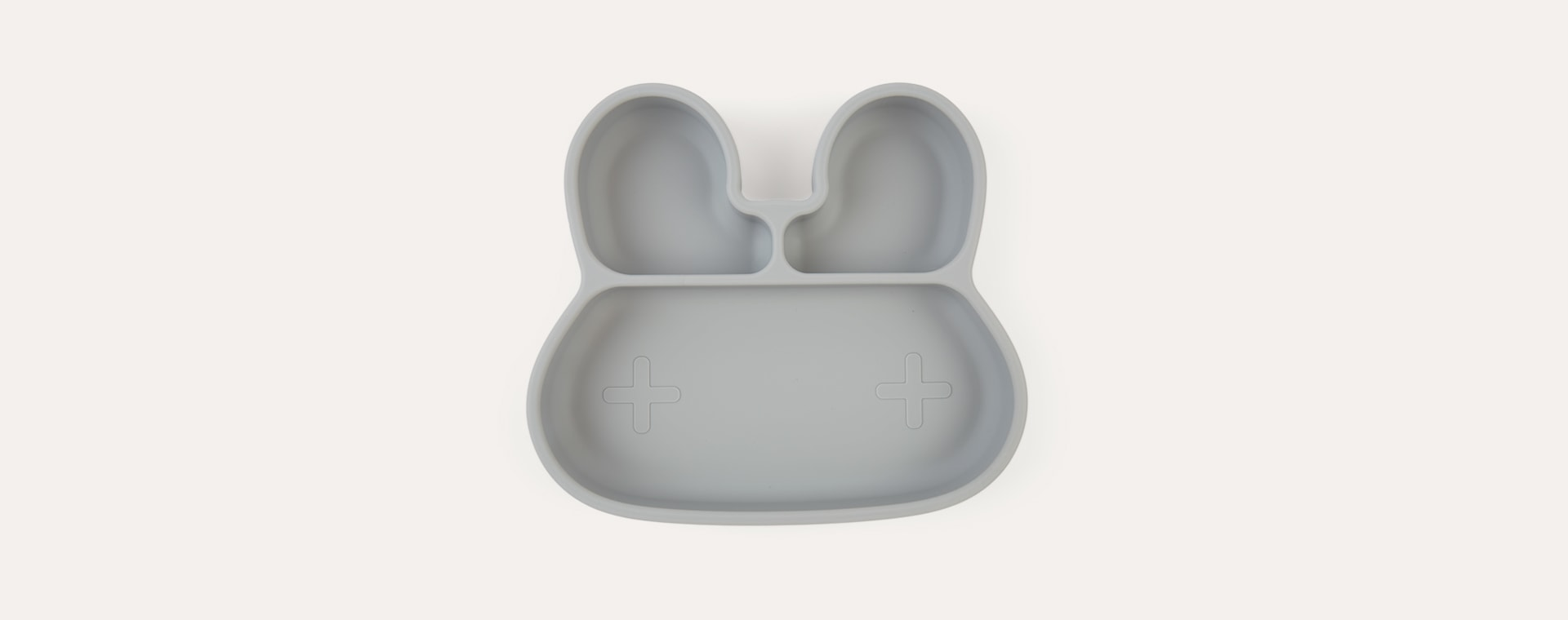 Grey We Might Be Tiny Bunny Stickie Plate