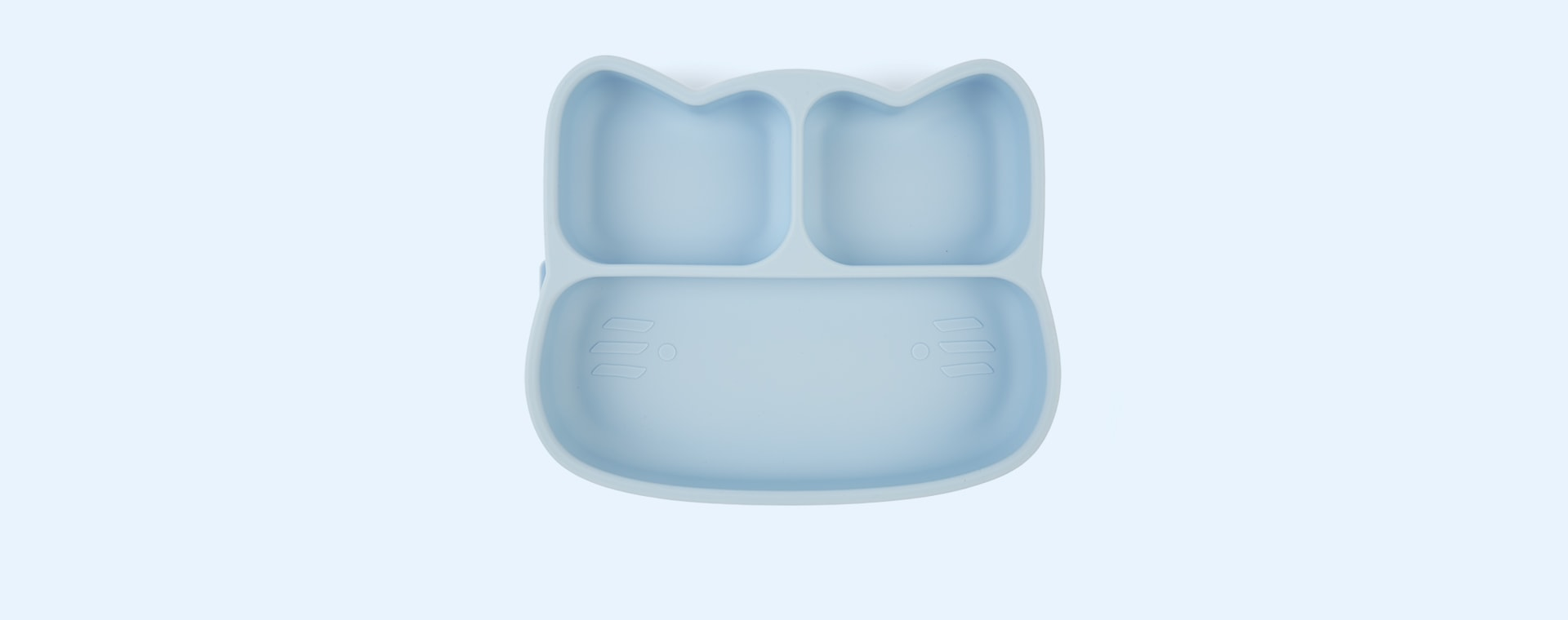 Powder Blue We Might Be Tiny Cat Stickie Plate