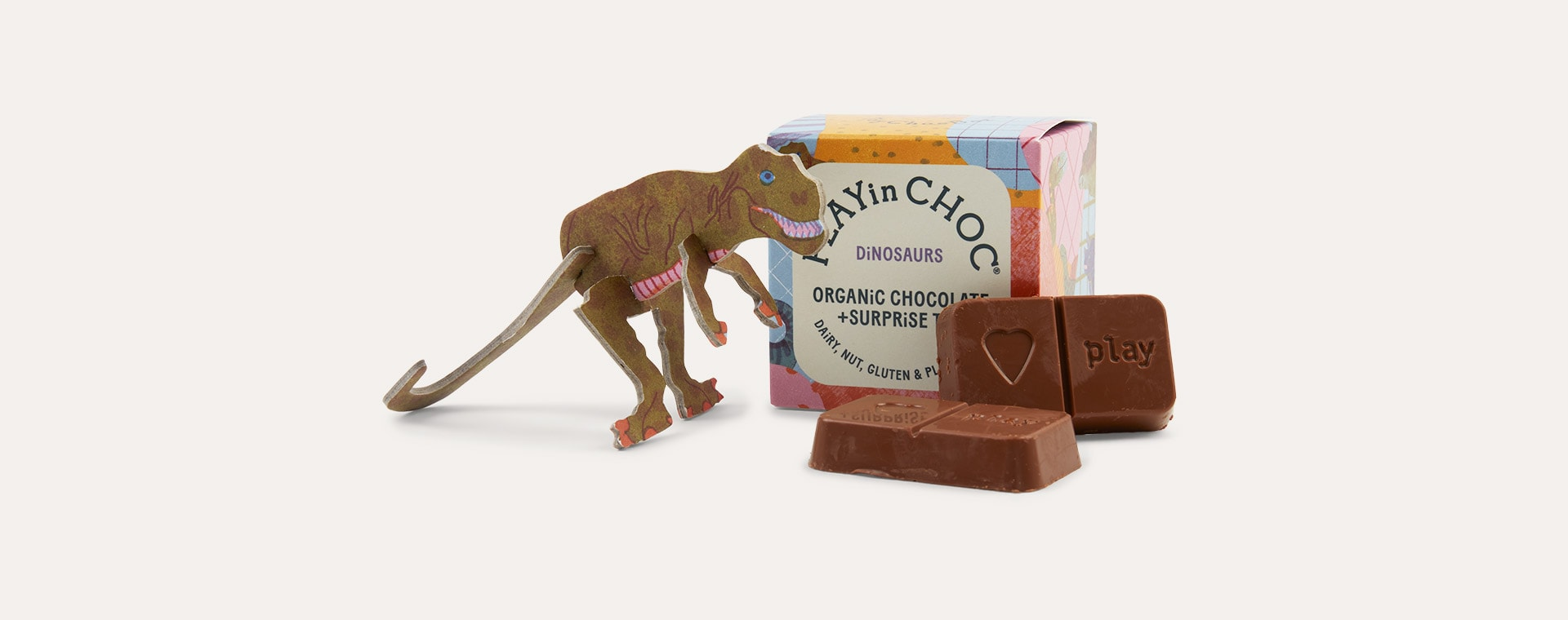 Dinosaurs Play In Choc Toychoc Box