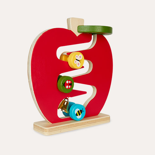 Red Petit Collage Apple Run Wooden Play Set