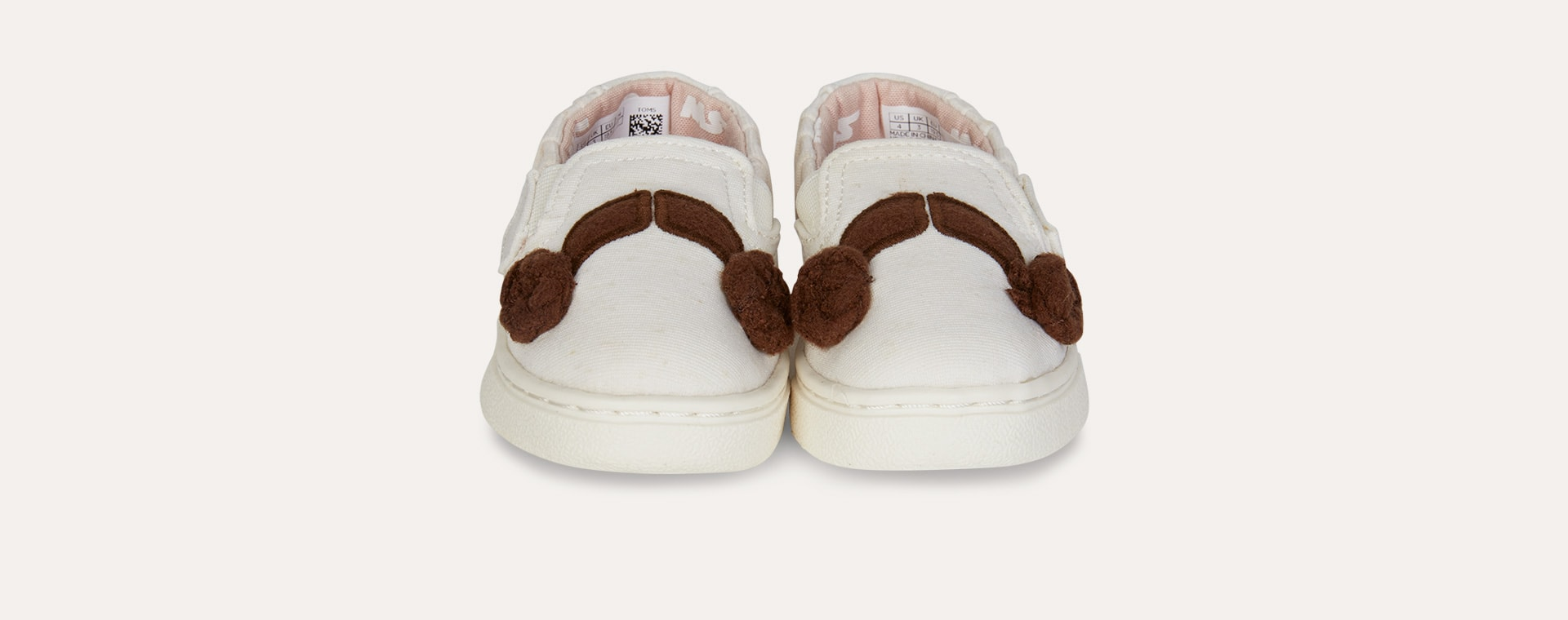 White TOMS Princess Leia Luca Slip-On shoe