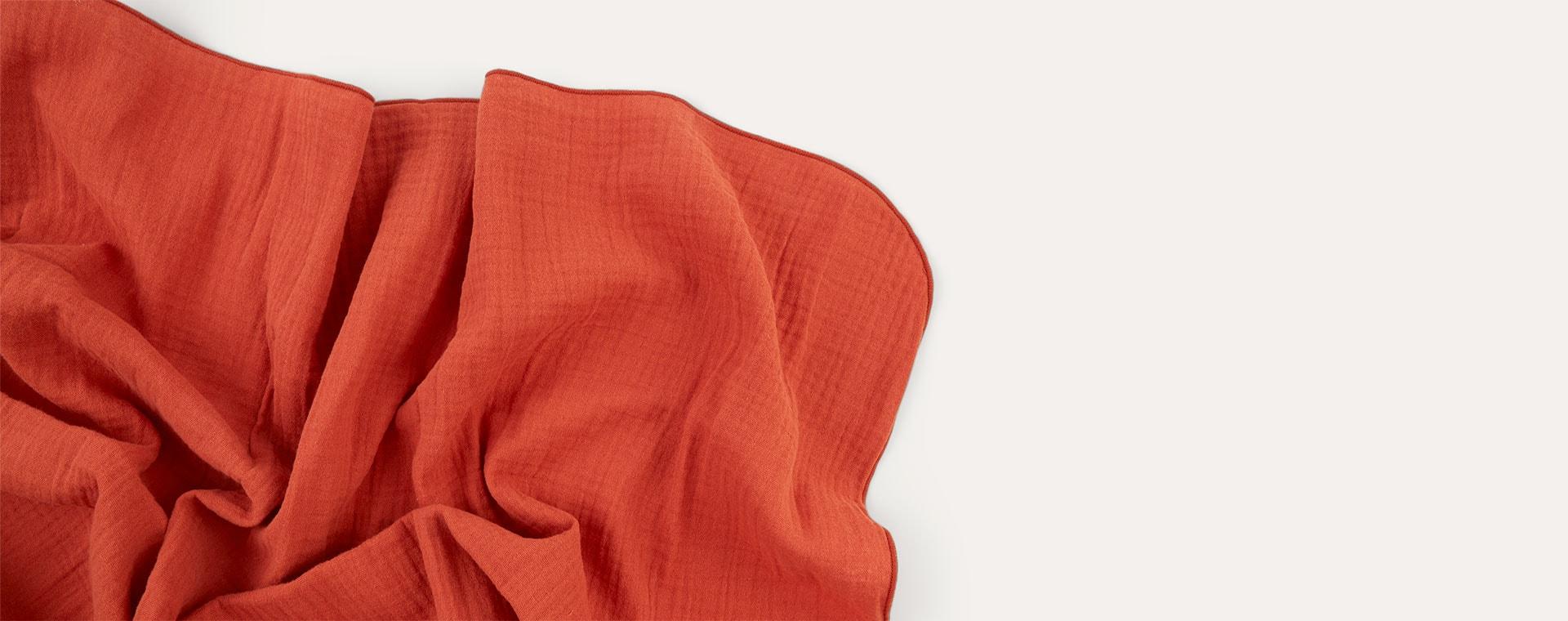 Rust Nanami Swaddle Blanket