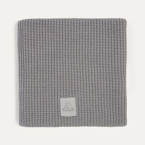 Grey Nanami Knitted Blanket